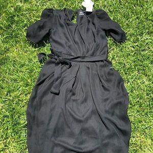 ASOS Black Belted Maternity Dress NEW 4